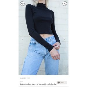 Brandy Melville Shelly Black Top